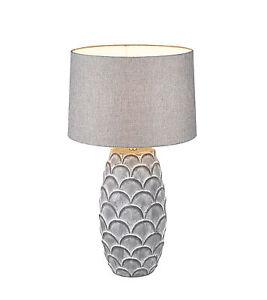 Table Desk Lamp H66cm Ø33cm Ceramic Lamp Stool Lamp Table Luminaire Grey