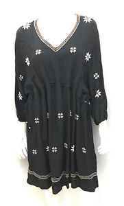 Near new! VERGE NZ black embroidered Wistful dress ~ Size XS 8+