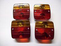 four Trailer Lighting Board/Caravan Four Function Lights & mounting bolts12v