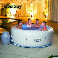 Inflatable Hot Tub Pool Lay Z Spa 4 Person Spas Bubbles With Cover