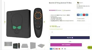 Beelink GT King 4K WiFi6 Android 9.0 TV Box Amlogic S922X 4GB 64GB Voice Control