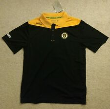Boston Bruins Reebok 2016 Center Ice Statement Speedwick Polo Shirt Adult Medium