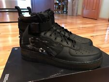 Nike SF AF1 MID QS Black Tiger Camo AA7345 001 Men's Size 12.5
