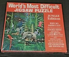 NEW World's Most Difficult Jigsaw Puzzle Jungle Edition 529 Pieces Double Sided