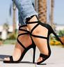 Summer Women High Heel Peep Toe  Sandals Strappy Formal Evening Stiletto
