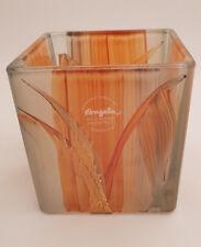 Teelicht Würfel Color Orange-Handarbeit mit Zertifikat- NeueWienerWerkstätten-