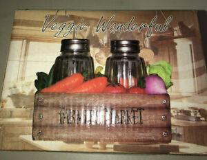 Veggie Wonderful Salt & Pepper Shaker