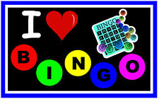 I LOVE BINGO - NOVELTY FUN  FRIDGE MAGNET - BRAND NEW - GIFT / PRESENT