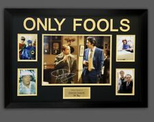 DAVID JASON SIGNED ONLY FOOLS FRAMED PIC. BAR FALLING SCENE WITH COA £195