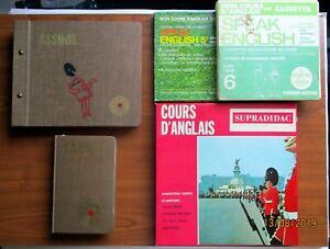 Méthode ASSIMIL  L'ANGLAIS SANS PEINE+disques, cassettes