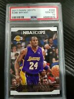 Kobe Bryant Los Angeles Lakers 2017 Panini Hoops Basketball Card #298 PSA 10