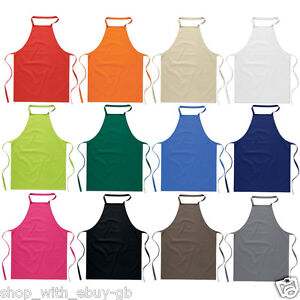 Cotton Kitchen Cooking Catering Cute Plain Unisex Apron Dress Variety Of Colours