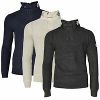CROSSHATCH Herren Strick Pullover Troyer GARFORTH CH HEAVY KNIT HI NECK