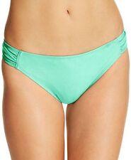 California Waves Swim Bikini Bottom Shirred Sides Sz M Mint Juniors K3
