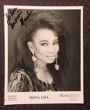 1990's MONA LISA  Autographed Promo Picture VF 8x10 Funk Soul Singer