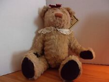 "NEW NWT 18"" RUSS BERRIE GRETA TEDDY BEAR PLUSH"