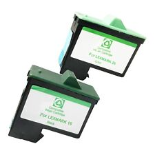 2 PACK LXM16 26 Ink Cartridges for Lexmark i3 X1110 1130 1150 1185 1190 1240