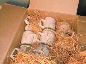 Neu-unbenutzt in OVP DDR Henneberg Porzellan Mitropa Kaffee Kännchen grün weiß