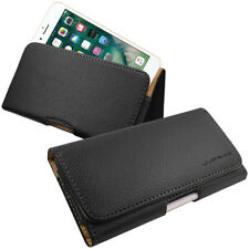 Leather Side Belt Clip Holster Magnetic Flip Pouch Case for Apple Samsung Huawei