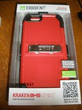 NEW Military tested Trident Iphone 6 4.7 Phone Case with Clip RED