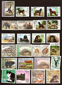 Laos The Animals Wild And Domestic: Elephants, Tigers, Chiens, Cats, F3