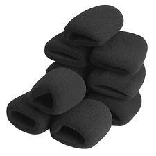 10Pcs Black Microphone Grill Foam Cover Audio Mic Shield Sponge Cap Hat Holder