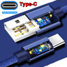 Type-C 3.1 Super Fast Charging Cable for Samsung S8 S9 Plus Note 9 A8 LG Huawei