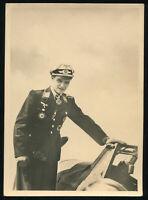 1942 Germany 3rd Reich Postcard WWII Hitler Luftwaffe Ace Pilot Knights Cross PC