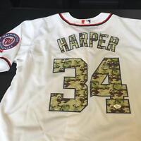 Bryce Harper Signed Authentic Washington Nationals Game Model Jersey JSA COA