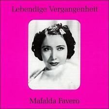 Favero, Mafalda Lebendige Vergangenheit CD