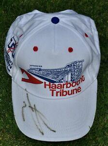Jorge Lorenzo Signed Assen TT Circuit Cap Dutch MotoGP Haarbocht Tribune