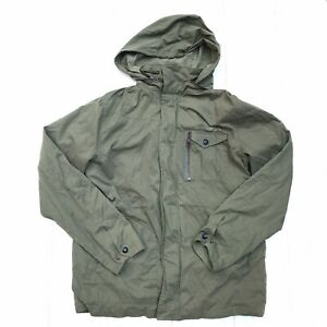 Volcom Men's Argent Jacket Army Green Lightweight Size Large