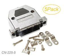 5-Pack Metalized Plastic Hood w/Screws for D-Sub DB25 Connectors, CN-225-5