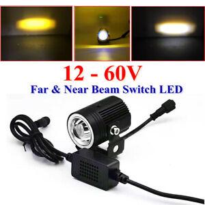 Car LED Cannon Spotlight Front Bumper 15W Fog Lamp A-pillar 12-60V Far&Near Beam