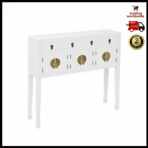 Sideboard Chinese Style Solid Wood White Cupboard TV Cabinet Storage Console