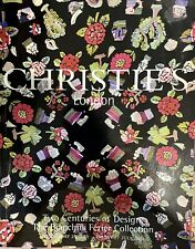 Christies Catalog. the Bianchini Férier Collection 25-27 July 2001, 2 Centuries