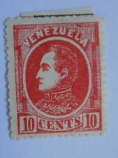(1) mhh Venezuela stamp off paper-Scott # 69-Bolivar