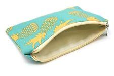 Trousse pochette rangement accessoires sac à main voyage Ananas jaune vert coton