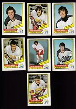 1976 O-PEE-CHEE WHA Team SET Lot of 7 Minn FIGHTING SAINTS NM OPC Dave KEON