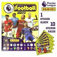 PANINI 2019 2020 EPL Premier League Soccer STICKER COLLECTION ALBUM and 10 PACKS