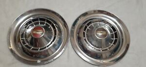 (2) VINTAGE 1954 CHEVY BELAIR 150/210  HUBCAPS WHEEL COVERS