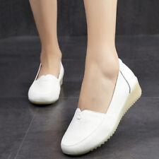 New Hospital Womens Leather Oxfords Wedge Nursing Shoes Nurse Work Shoes Slip On