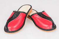 Women`s/Ladies Leather Slippers 100% Natural Leather size:UK 3,4,5,6,7,8