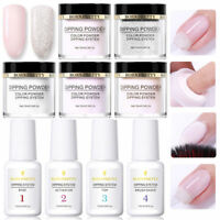 9Pcs/Set 10ml BORN PRETTY Clear Dipping System Powder Nail Art Dip Liquid Kit