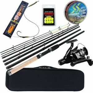 Carp Fishing Rod Combo 6 Sections Feeder Carp Reel Line Lure Hook Accessories
