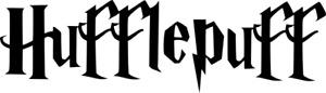 Harry Potter Hufflepuff Logo Decal Name Text Vinyl Wall Art Sticker 250mm Black