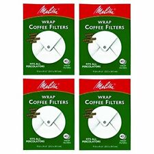 NEW Melitta White Wrap Around Coffee Filter for Percolator Pack of 4 SHIPS FREE