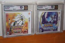Pokemon Sun & Moon (Nintendo 3DS) NEW SEALED, GEM MINT SET, GOLD VGA 95!