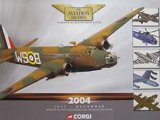 Corgi Aviation Archive CATALOGUE July / December 2004 aircraft ww2 planes