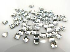 STRASS Quadrati 2,7mm x 2,7mm 100pz cristallo trasparente hotfixTermoadesivi